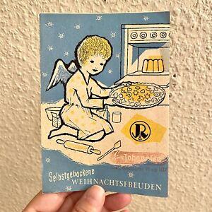 Vintage Lebensmittel-Werbung ALT 1959 A6 Backofen-Engel Heft Weihnachten Kekse