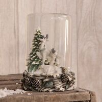 Woodland Christmas Dome Decoration With Reindeer Scene - Christmas Gift Idea