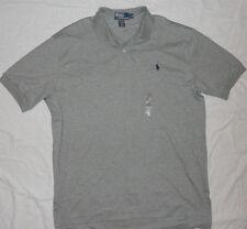 NEW! RALPH LAUREN Polo Shirt Mens 2X 2XL XXL Gray with Navy Pony NWT!