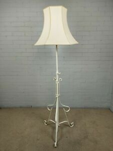 Antique Victorian Wrought Iron Standard Lamp - Re-wiring needed.