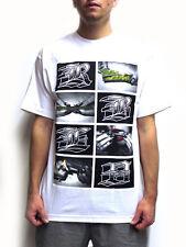 Rebel 8 Smoke something t-shirt white nuevo! Weed marijuana Kush joint hierba cali L