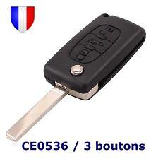 Coque Plip Télécommande Clé pour Citroen Berlingo 3 boutons Coffre CE0536 VA2
