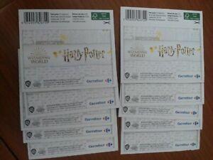 10 Sobres Harry Potter Carrefour 2020 Sin abrir