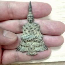 Antique Thai Buddha LP Amulet Old Statue Pendant AYUTTHAYA Buddhist Art gorgeous