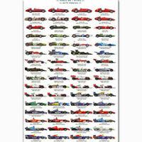 Silk Custom Poster Championship Drivers F1 Racing Car Ayrton Senna Collage C-34