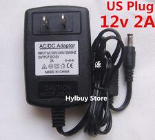 US Plug DC12V 2A Power Supply Adapter 110v AC to DC 12v converter Charger 5.5mm