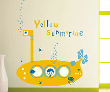 Kids Removable Vinyl Wall Stickers for Boy -- Yellow Submarine