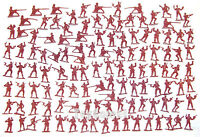 120 pcs Military Plastic Toy Soldiers Army Men Red 4cm Figures 6 Poses