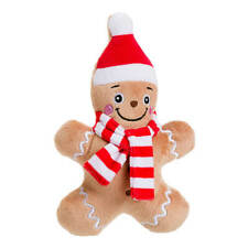 House of Paws Christmas Gingerbread Man Cookie Dog Toy   Medium Squeaky Festive