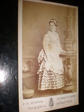 Cdv old photograph actress Martha Cranmer ('Pattie') Oliver by Window c1860s