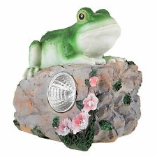 Frog Solar Light Figurine Statue Indoor Outdoor Garden Flowerbed Decor