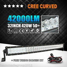 5D++ Cree 32inch Curved 420W LED Light Bar Spot Flood Combo Offroad PK Osram 34""