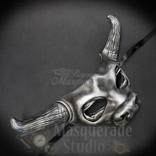 Cow Bull Animal Spirit Halloween Wall Decoration Masquerade Mask [Silver]