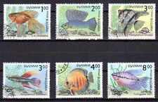 Poissons Bulgarie (31) série complète de 6 timbres oblitérés
