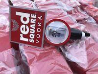 RED SQUARE VODKA 50ML DOUBLE SHOT OPTIC BEAUMONT (2164) BAR PUB CLUB MAN CAVE