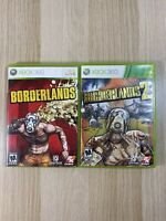 Borderlands 1 and 2 Xbox 360 Video Game Bundle Tested and Working Free Shipping!