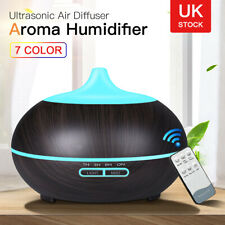 Aroma Diffuser Electric Ultrasonic Air Mist Humidifier Purifier 7 Colors LED UK