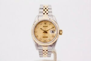 Rolex Datejust 69173 Diamond Anniversary Dial 1991 Box and Papers