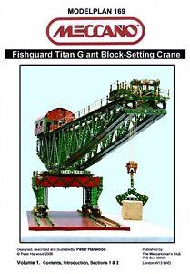 Meccano Model Plan - Fishguard Titan Block-setting Crane