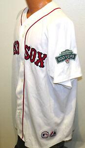 DAISUKE MATSUZAKA FENWAY PARK 100 YEARS Jersey XL Majestic Boston Red Sox 2012