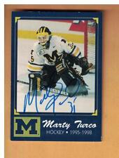 Marty Turco AUTOGRAPH MICHIGAN WOLVERINES 2004 TK LEGACY HOCKEY CARD SIGNED