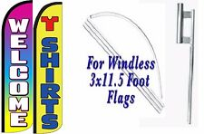 T Shirts Welcome Windless Swooper Flag With Complete Kit Pack of 2