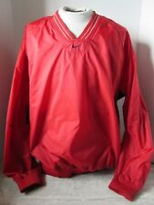 Vintage Nike Red Blue Nylon Pullover Jacket Size Large Made in Taiwan