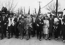 Dr Martin Luther King Jr MLK Civil Rights March on Selma Poster Art Photo 12x18