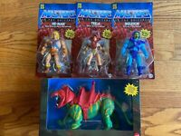 MASTERS OF THE UNIVERSE RETRO 2020 HeMan Battle Cat Teela  Skeletor