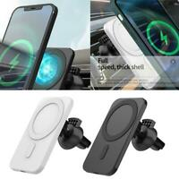 1x 15W Magnetic Wireless Car Charger Mounts For iPhone 12 Pro Max Fast Charging