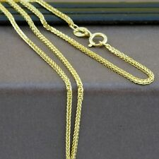 Genuine 18CT Solid Yellow Gold Foxtail Chain 45cm Italy Made