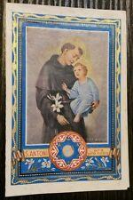 SANTINO RELIQUIA '' S. ANTONI '' HOLY CARD RELIKWIA SWIETEGO RELIC