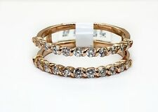 14K Rose Gold Round Diamond Engagement Guard Ring 0.50 TCW Natural Size 7.25
