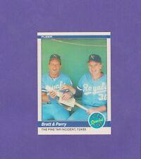 """1984 Fleer #638 Brett & Perry """"The Pine Tar Incident 07/24/83"""""""