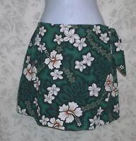 Hilo Hattie Tropical Hawaiian Wrap Skort Skirt S Shorts Luau Party Hula Beach