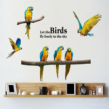 Birds Parrot Family Room Home Decor Removable Wall Stickers Decals Decoration