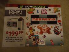 NES Remix Nintendo 3DS Wii U Store Display Poster Promo Banner Mario Link Samus