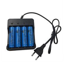 4X 18650 3.7V 5000mAh Li-ion Rechargeable Battery & 4.2V EU Plug 4 Slots Charger