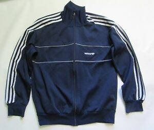 ADIDAS ORYGINALS 1980's zip TRACKSUIT TOP made in Poland RETRO OLDSCHOOL adult M
