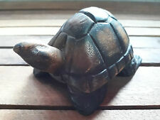 Wooden turtle hand carved figurine great for  collect, gift, paperweight