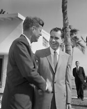 President Elect John F. Kennedy and Richard Nixon UNSIGNED photo - K9449