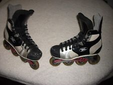 NICE USED RED LINE ROLLER HOCKEY SKATES ROLLER BLADES MEN SIZE 10 NICE CONDITION