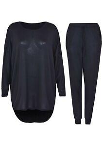 Women's 2 Piece Tracksuit Set High Low Top and Jogger Bottoms Loungewear Set