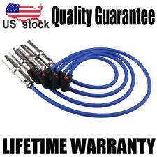 4pcs 9mm Spark Plug Wire Set For VW Beetle Bora Golf GTI Jetta 2.0L SOHC 27588