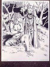 Pinup Elmore Vintage Print 1994 Magic Sexy Fantasy Myth Comic Erotic Art Dungeon