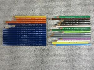 Vtg Venus Paradise Color Pencil Lot of 32 By Number - 9 Unused Navy Colored