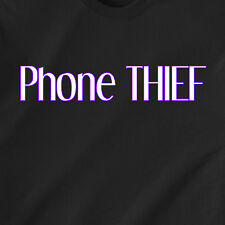 Phone THIEF jail cell cop police steel rob ipod mp3 humor retro Funny T-Shirt