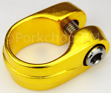 "Old school Suntour style BMX bicycle seat clamp 28.6mm (1 1/8"") - GOLD ANODIZED"
