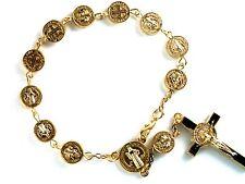 Bracelet - Rosary bracelet  Religion rosary crucifix bracelet car rosary in gold