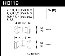 Hawk Disc Brake Pad Front / Rear for GMC / Chevrolet / Isuzu # HB119B.594